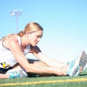 runner sports stretching