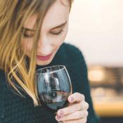 women wine wellness event